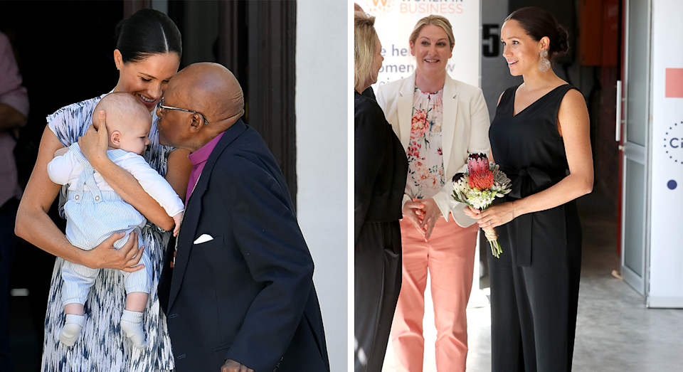 Meghan's outfits on day three. [Photo: Getty]