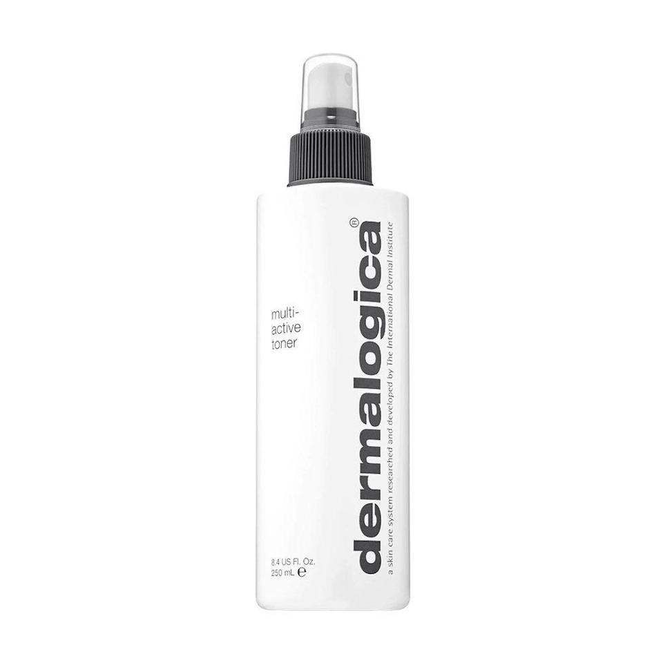 """<p><strong>Dermalogica</strong></p><p>dermstore.com</p><p><strong>$39.00</strong></p><p><a href=""""https://go.redirectingat.com?id=74968X1596630&url=https%3A%2F%2Fwww.dermstore.com%2Fproduct_MultiActive%2BToner_496.htm&sref=https%3A%2F%2Fwww.bestproducts.com%2Fbeauty%2Fg249%2Ffacial-toners-for-every-skin-type%2F"""" rel=""""nofollow noopener"""" target=""""_blank"""" data-ylk=""""slk:Shop Now"""" class=""""link rapid-noclick-resp"""">Shop Now</a></p><p>Dermalogica's beloved Multi-Active Toner lives up to the hype. It's formulated with a slew of skin-loving ingredients like <a href=""""https://www.healthline.com/health/lavender-oil-for-skin"""" rel=""""nofollow noopener"""" target=""""_blank"""" data-ylk=""""slk:lavender"""" class=""""link rapid-noclick-resp"""">lavender</a>, balm mint, and arnica that combine to create an ideal toner that hydrates, refreshes, and repairs the skin. </p>"""