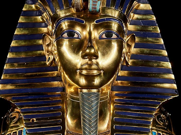A replica of the art effect from the Tutankhamon tomb at the 'Tutankhamon. The Exhibition' on November 21, 2019 in Madrid, Spain.