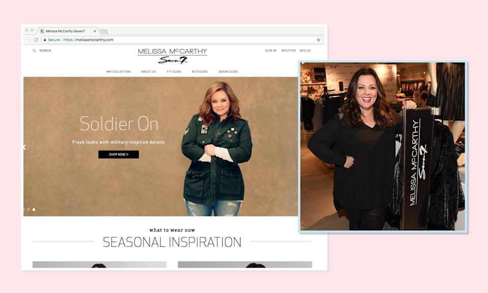 """<p>Speaking of denim, actress Melissa McCarthy lends her name and eye to a collaborative <a rel=""""nofollow noopener"""" href=""""https://melissamccarthy.com/shop/all"""" target=""""_blank"""" data-ylk=""""slk:line with jeans brand Seven7"""" class=""""link rapid-noclick-resp"""">line with jeans brand Seven7</a>, though everything from jumpsuits to outerwear is available in the collection. (Photo: Melissa McCarthy Seven7/Getty Images) </p>"""