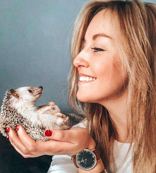 PHOTO: Talitha Girnus poses with her first hedgehog, Pokee. (mr.pokee/Instagram)