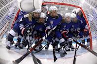 <p>during the Women's Gold Medal Game on day thirteen of the PyeongChang 2018 Winter Olympic Games at Gangneung Hockey Centre on February 22, 2018 in Gangneung, South Korea. (Getty) </p>