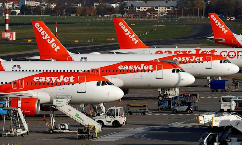EasyJet aircraft have been grounded.