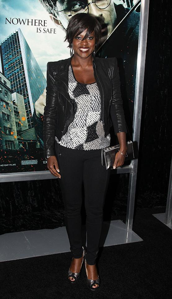 """<a href=""""http://movies.yahoo.com/movie/contributor/1800315745"""">Viola Davis</a> attends the New York premiere of <a href=""""http://movies.yahoo.com/movie/1810004780/info"""">Harry Potter and the Deathly Hallows - Part 1</a> on November 15, 2010."""