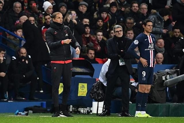 Edinson Cavani has been used sparingly by Paris Saint-Germain coach Thomas Tuchel this season and looks set to leave the club before the January window closes (AFP Photo/Anne-Christine POUJOULAT)