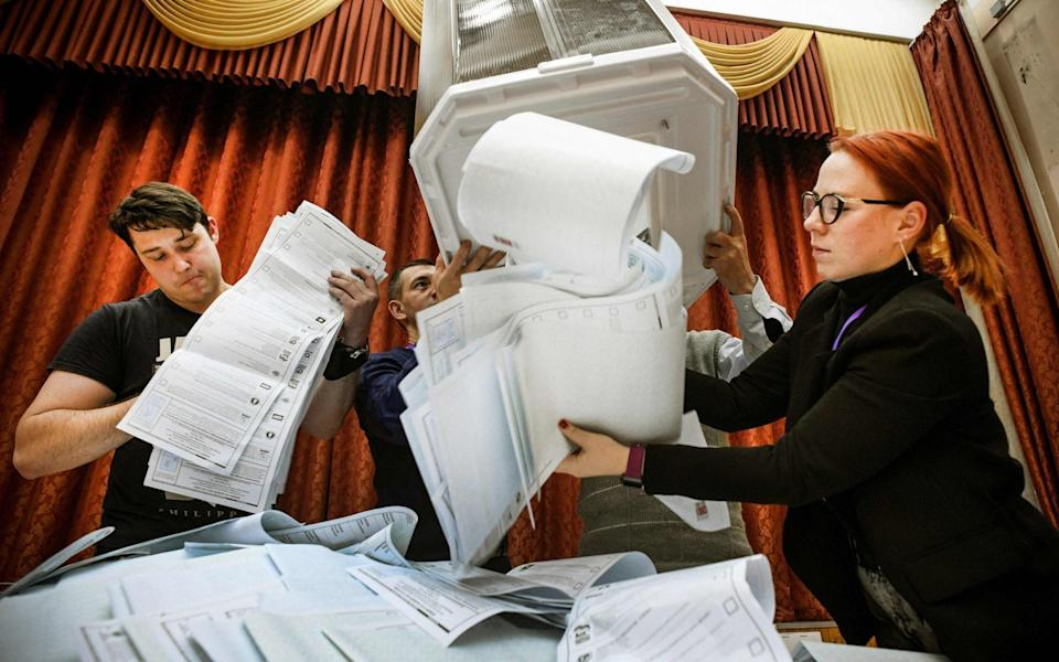 Reports of vote-rigging were particularly stark in St Petersburg, Russia's second-largest city - Alexander Nemenov /AFP