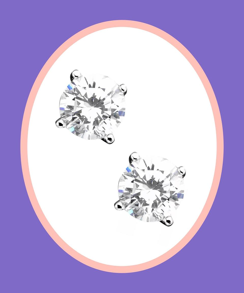 """<br><br><strong>Giani Bernini</strong> Cubic Zirconia Sterling Silver Stud Earrings, $, available at <a href=""""https://go.skimresources.com/?id=30283X879131&url=https%3A%2F%2Fwww.macys.com%2Fshop%2Fproduct%2Fgiani-bernini-cubic-zirconia-sterling-silver-stud-earrings-created-for-macys%3FID%3D2952719%26CategoryID%3D10835%26swatchColor%3DSterling%2520Silver"""" rel=""""nofollow noopener"""" target=""""_blank"""" data-ylk=""""slk:Macy's"""" class=""""link rapid-noclick-resp"""">Macy's</a>"""