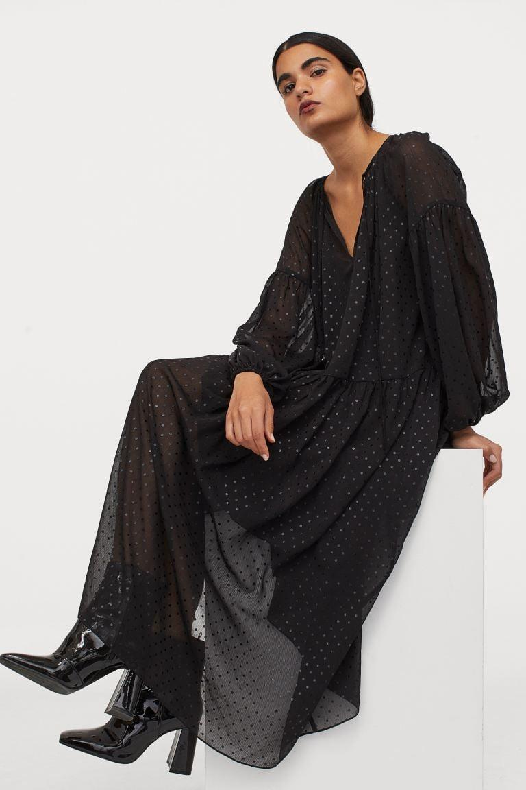 <p>If you can't part with your black dresses, go for this <span>H&amp;M Long Chiffon Dress</span> ($50).</p>