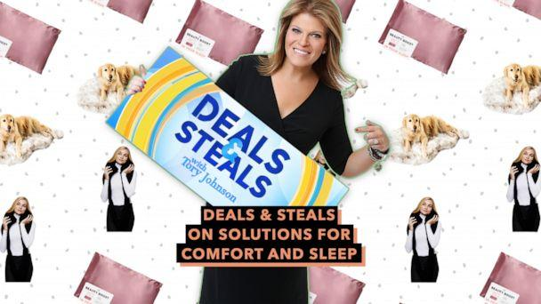 PHOTO: Deals & Steals on solutions for comfort and sleep (ABC News Photo Illustration, Paws, NIGHT, Sleeper Scarf)