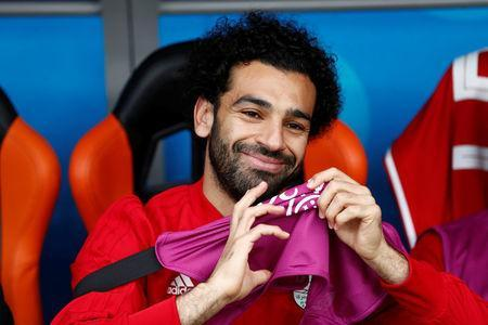Egypt's Mohamed Salah before the match. REUTERS/Damir Sagolj