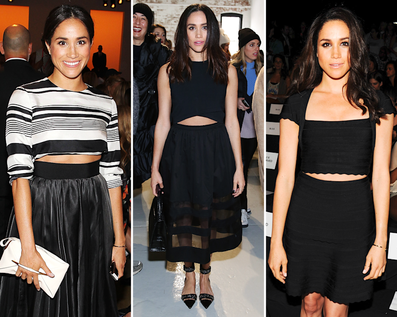 """Markle tends to make pretty straightforward stylistic choices; her penchant for crop-top-style ensembles is about as """"daring"""" as it gets."""