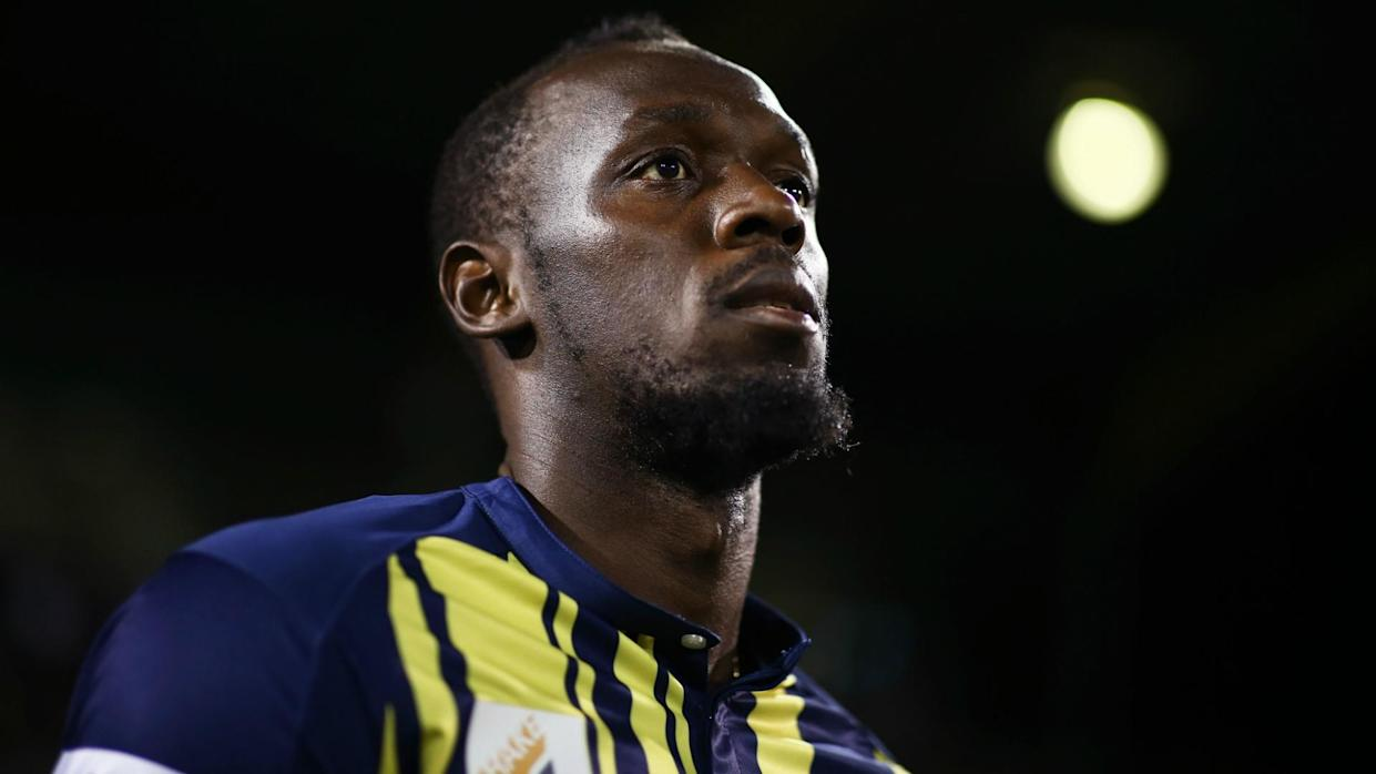 Usain Bolt is seeking a soccer contract and was the subject of a 'slavery' remark from an Australian TV host and AFL chairman.