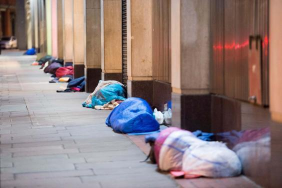 More than 170,000 people are estimated to be homeless in London (Jeremy Selwyn)