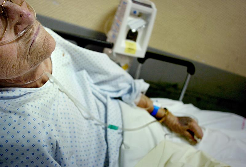 File photo of an elderly patient (AFP Photo/Jeff Pachoud)