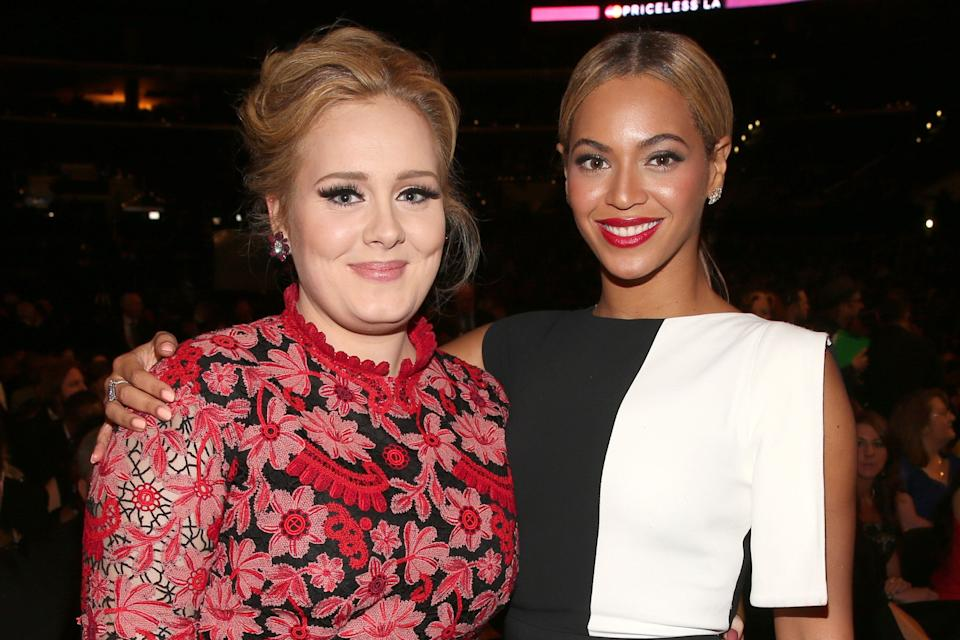 Adele and Beyoncé pictured in 2013 (Photo: Christopher Polk via Getty Images)