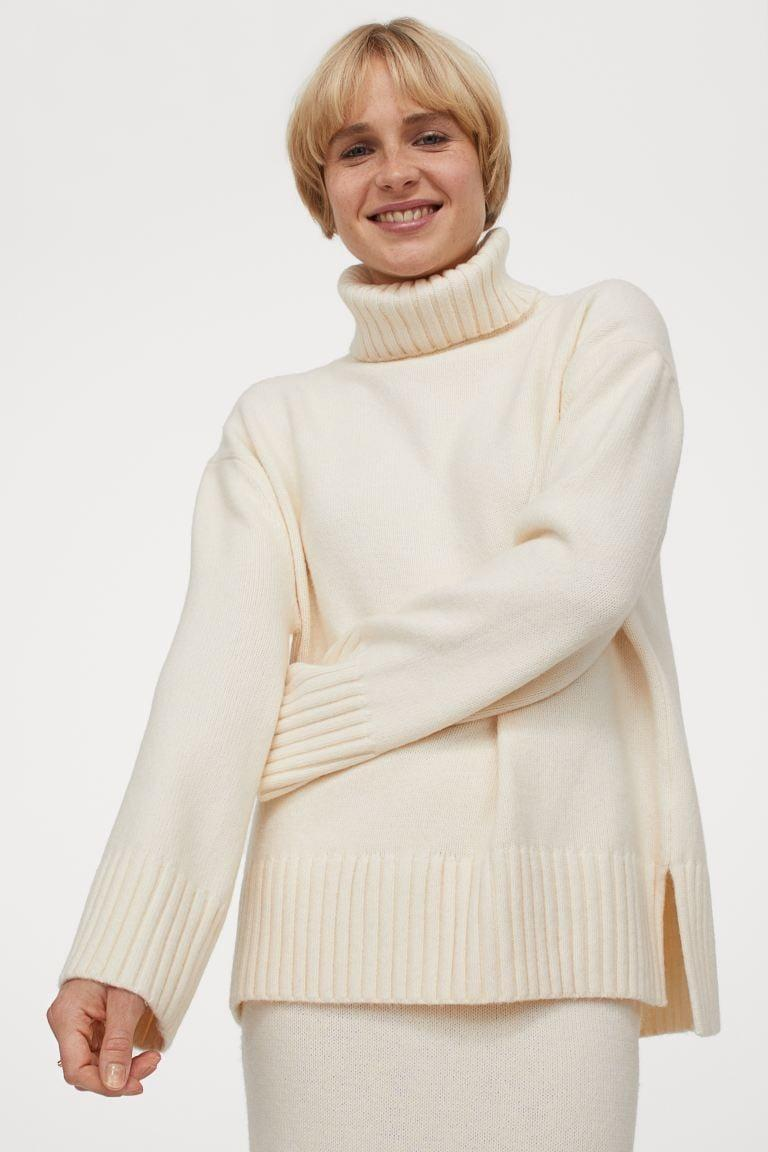 <p>On days when deciding what to wear is just too overwhelming, slip in this <span>Turtleneck Sweater</span> ($35).</p>