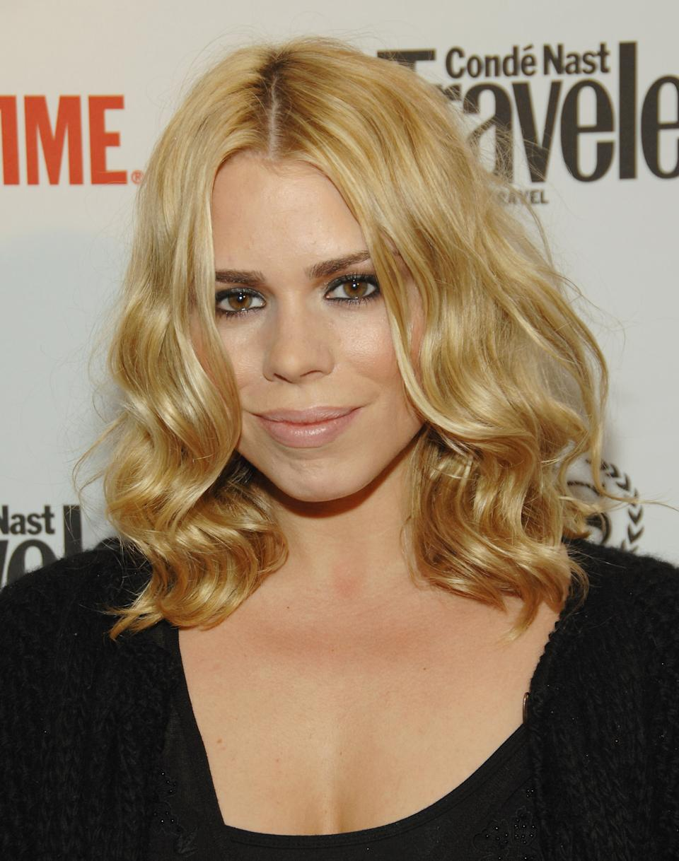 "Actress Billie Piper attends the world premiere of the second season of Showtime's ""The Tudors"", Wednesday, March 19, 2008 in New York. (AP Photo/Evan Agostini)"