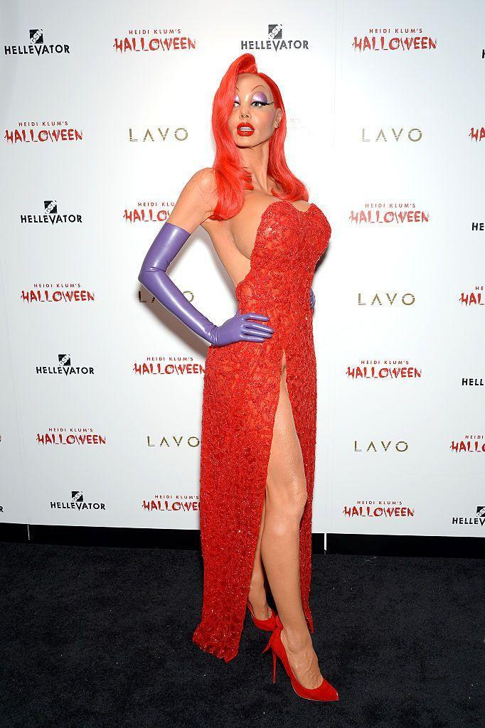 <p>Heidi's 2015 look is a spot-on recreation of Jessica Rabbit from the 1998 movie, <em>Who Framed Roger Rabbit?</em></p>