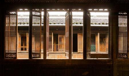The view looking across the courtyard from the second-floor corridor is pictured at the Yin Yu Tang house at the Peabody Essex Museum in Salem in this handout photo