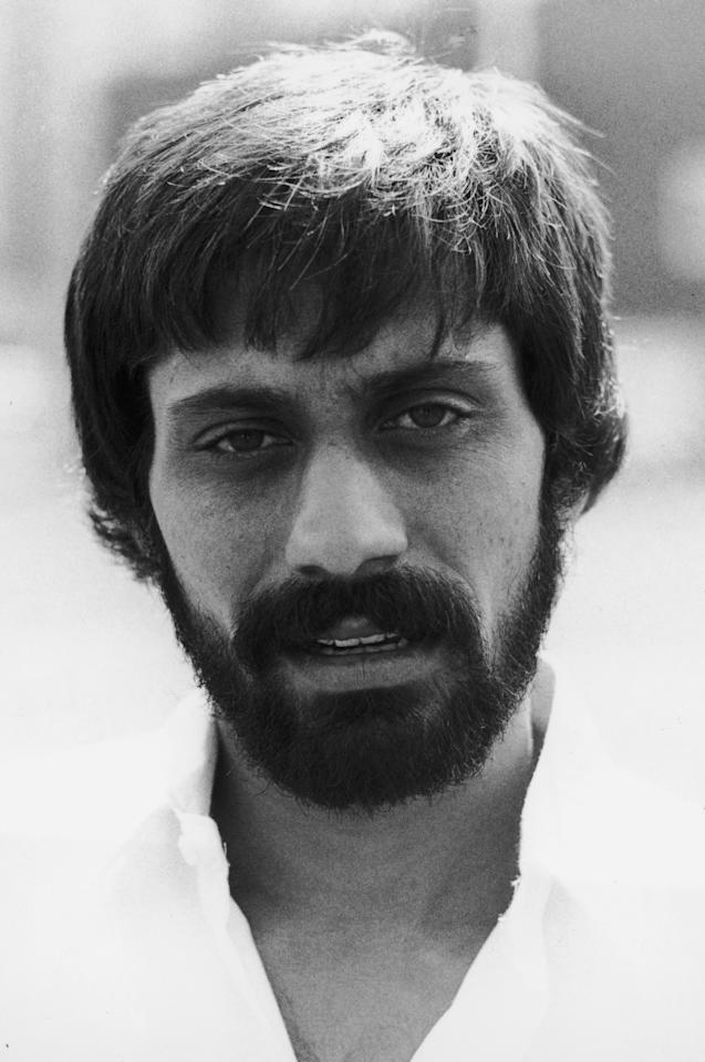 Pakistan all-round cricketer Wasim Raja (1952 - 2006),  (Photo by Rob Taggart/Central Press/Hulton Archive/Getty Images)