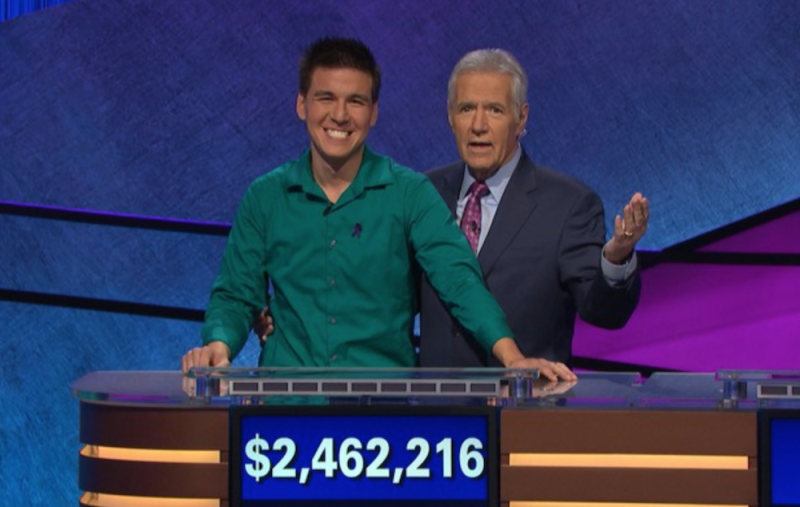 Jeopardy! champion James Holzauer donates to cancer charity in Alex Trebek's name