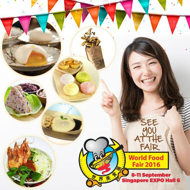 "<p><a href=""http://www.worldfoodfair.com.sg/""><b>World Food Fair 2016</b></a></p><p>Heed the foodie's siren call for a gastronomic spread of local and international cuisines. This four-day food fair features over 1,000 types of food and beverages from over 150 exhibitors. Grab everything from rice teas, braised pig trotters, taro pies to russet fries, mochi popsicles and salted egg yolk potato chips; get those lucky draw coupons filled and you might just win a prize too.</p><p>When: 8-11 Sept, 11am to 10pm daily</p><p>Where: Singapore Expo Hall 6, 1 Expo Drive, Singapore EXPO, #02-10</p><p>Prices: Free admission</p>"