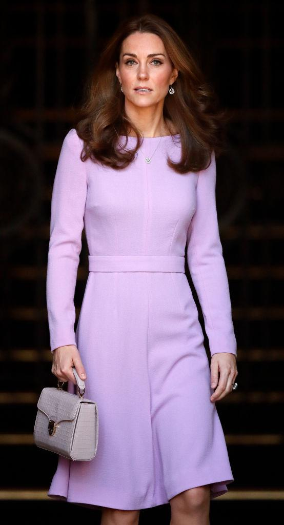 Kate carried the nude version of the bag in 2018 to the Global Ministerial Mental Health Summit. (Getty Images)