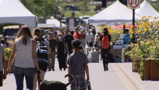 'Our economy has truly been devastated; we have lost some businesses over this crisis,' Mayor Karen Sorensen said of the pandemic's impact on Banff tourism. (Charlotte Dumoulin/CBC - image credit)