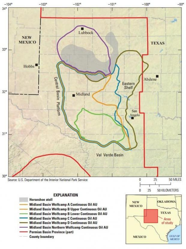 Usgs Just Discovered The Biggest Shale Oil Field In America - Us-oil-fields-map