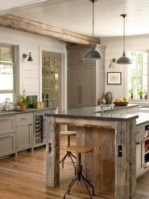 """<div class=""""caption-credit""""> Photo by: Gridley + Graves</div><div class=""""caption-title"""">A Bright Spot</div>A custom island, topped with sheet metal, echoes this <a href=""""http://www.countryliving.com/homes/house-tours/ultimate-summer-cabin?link=emb&dom=yah_life&src=syn&con=blog_countryliving&mag=clg"""" target=""""_blank"""">Georgia home'</a>s barnwood beams. Why stop at the usual overheads? Additional sconces make any countertop an enlightened place for prep work. <br> <b><br> Plus: <br> <a target=""""_blank"""" href=""""http://www.countryliving.com/homes/decor-ideas/kitchen-designs?link=rel&dom=yah_life&src=syn&con=blog_countryliving&mag=clg"""">The Ultimate Guide to Kitchen Decorating »</a> <br> <a target=""""_blank"""" href=""""http://www.countryliving.com/homes/decor-ideas/bedroom-designs-gallery?link=rel&dom=yah_life&src=syn&con=blog_countryliving&mag=clg"""">100+ Bedroom Design Ideas You'll Love »</a></b> <br>"""