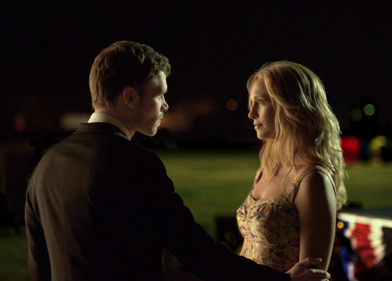 """Graduation"" -- Joseph Morgan as Klaus and Candice Accola as Caroline"
