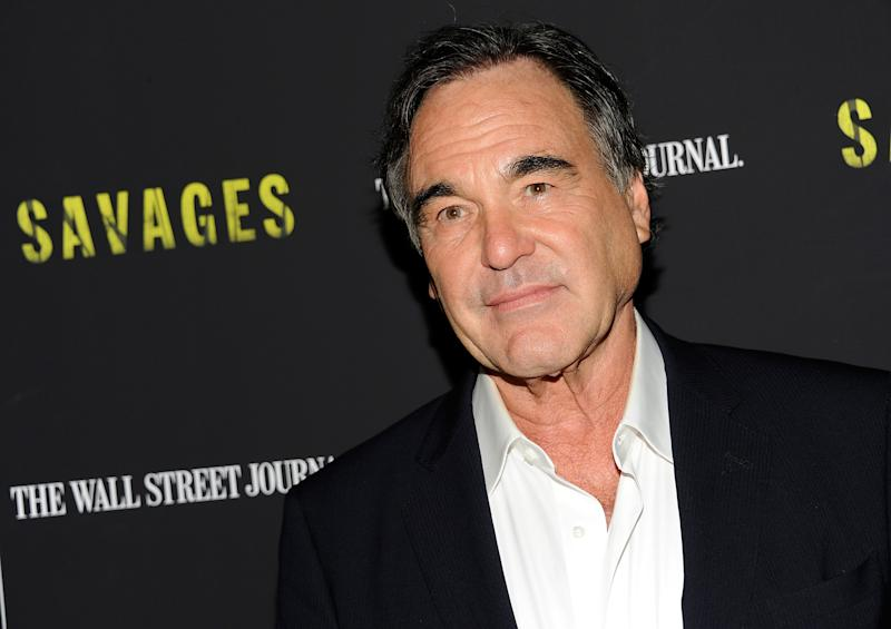 """FILE - In this June 27, 2012 file photo, director, Oliver Stone, attends a special screening of """"Savages,"""" at the SVA Theater in New York. (Photo by Evan Agostini/Invision/AP, File)"""