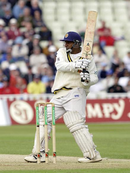 BIRMINGHAM - MAY 30:  Aravinda de Silva of Sri Lanka in action during the 2nd Npower Test Match between England and Sri Lanka at Edgbaston in Birmingham on May 30, 2002. (Photo by Tom Shaw/Getty Images)