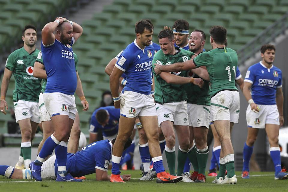 Ireland's destiny is in their own hands after a 50-17 win over Italy in Dublin last weekendAP