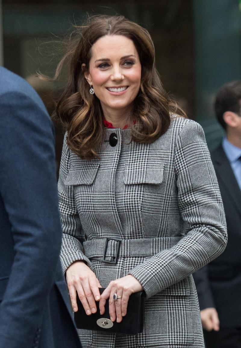 Kate was all smiles as she stepped out for the day. Photo: Getty Images