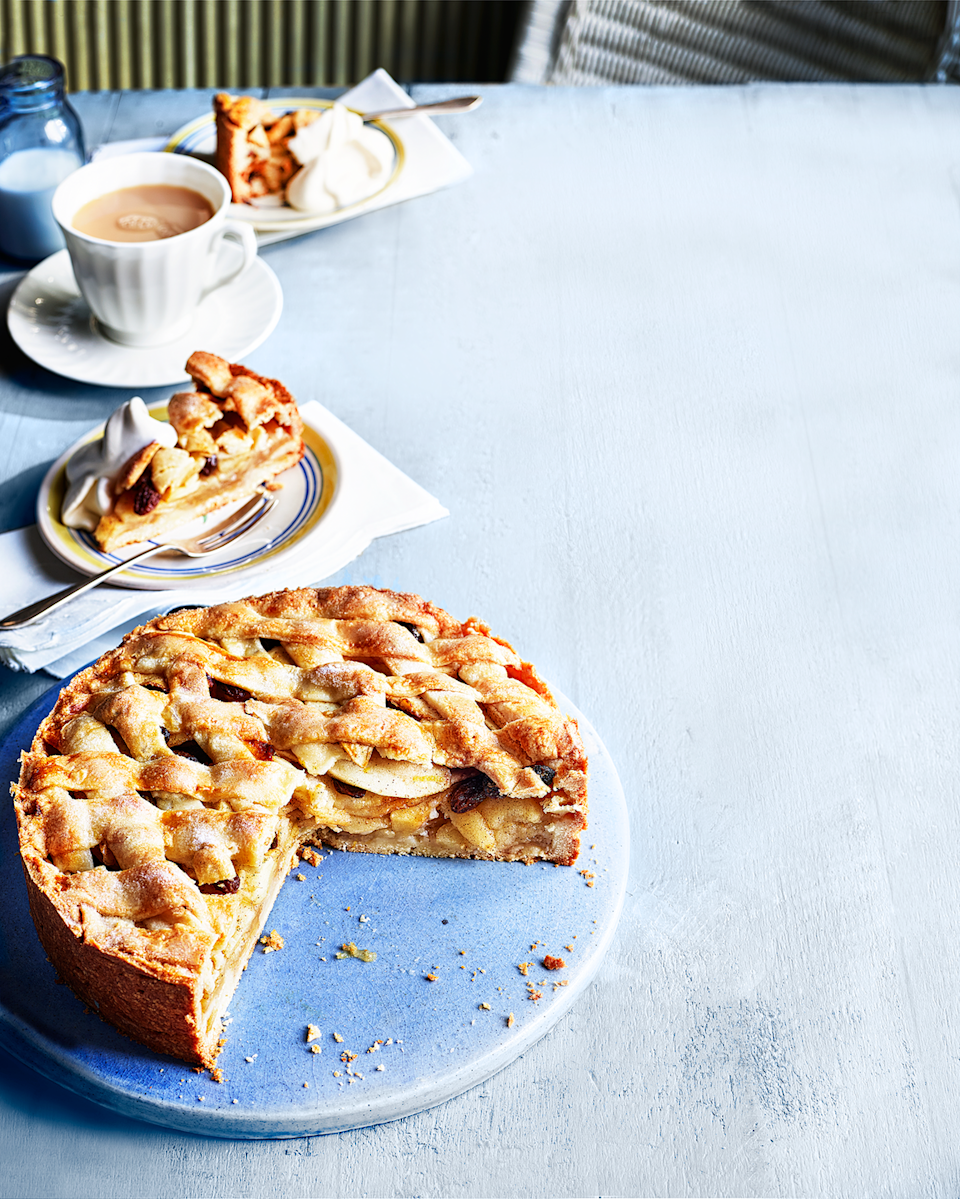 """<p>A crisp biscuity pastry deep-filled with cinnamon-laced apples – and no soggy bottom in sight!</p><p><strong>Recipe: <a href=""""https://www.goodhousekeeping.com/uk/food/recipes/a27882093/dutch-apple-tart/"""" rel=""""nofollow noopener"""" target=""""_blank"""" data-ylk=""""slk:Dutch apple tart"""" class=""""link rapid-noclick-resp"""">Dutch apple tart</a></strong></p>"""