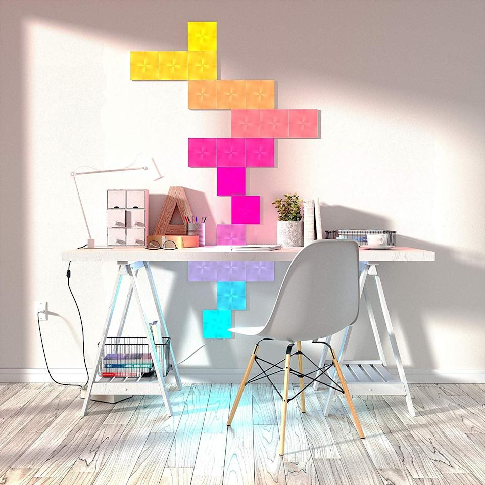 <p>This light-up <span>Nanoleaf NL290001SW Canvas Expansion Pack</span> ($200) changes colors and can take on any shape you build.</p>