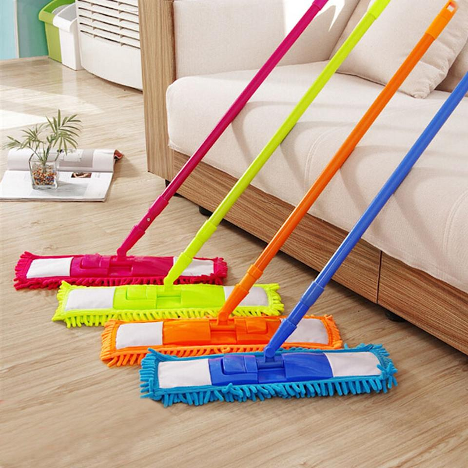 Use LavoHome's colorful Noodle (and your own) for a pre-mop dust pick-up. (Photo: Walmart)