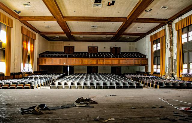 <p>A broader view of the auditorium. (Photo: Leland Kent/Caters News) </p>