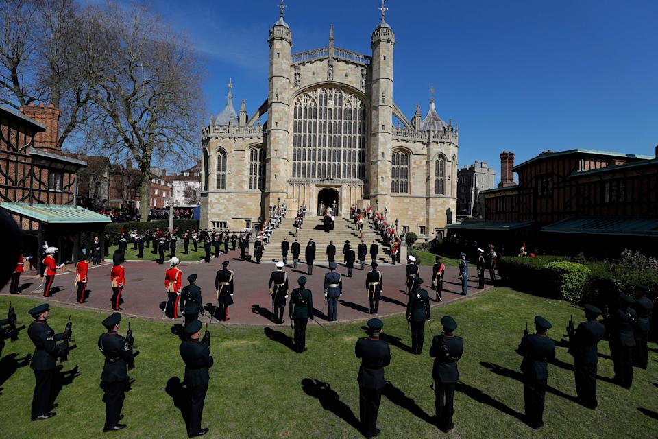 <p>A minute's silence was held in memory of the duke. (AFP via Getty Images)</p>