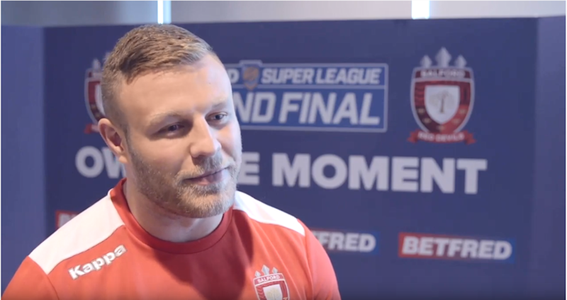 Salford Red Devils prop Josh Jones is embarking on a life-changing week