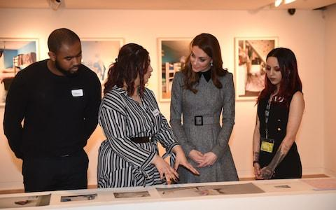 The Duchess of Cambridge with Callum, Ameera and Rohima - Credit: Eddie Mulholland