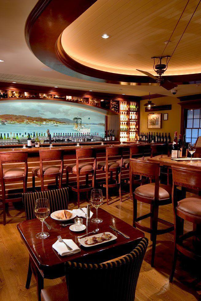 """<p>Sailors and soldiers found a favorite gathering spot in this <a href=""""https://www.tripadvisor.com/Hotel_Review-g33778-d114115-Reviews-Griswold_Inn-Essex_Connecticut.html"""" rel=""""nofollow noopener"""" target=""""_blank"""" data-ylk=""""slk:Essex inn"""" class=""""link rapid-noclick-resp"""">Essex inn</a>. The colonial-style building near the Connecticut River was built in 1776. Stop in to see the beautiful dining rooms, sit down for traditional Sunday Hunt Breakfast, or grab some chowder and a pint in the Tap Room.</p>"""