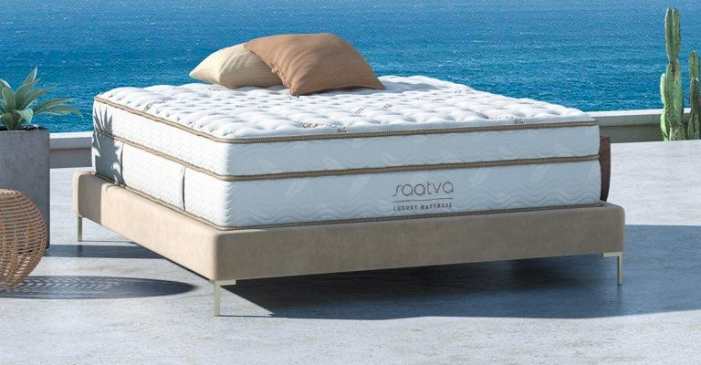 The Saatva Classic is such a primo mattress that you could sleep like a baby even out in the blazing sun, with no sheets! (Photo: Saatva.com)