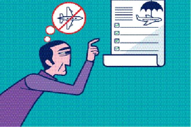 In case of cancelled flights or delay, a valid travel insurance can help the passenger. (Illustration: SHYAM Kumar Prasad)