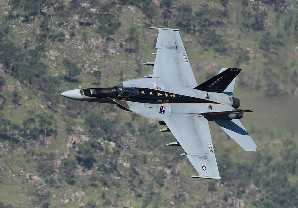 """<p>A bigger, badder version of McDonnell Douglas's F/A-18 Hornet, the Super Hornet is built to do it all. The updated F/A-18 Super Hornet bristles with missiles, bombs, and <a href=""""https://www.navy.mil/Resources/Fact-Files/Display-FactFiles/Article/2383479/fa-18a-d-hornet-and-fa-18ef-super-hornet-strike-fighter/"""" rel=""""nofollow noopener"""" target=""""_blank"""" data-ylk=""""slk:a 20mm Vulcan cannon"""" class=""""link rapid-noclick-resp"""">a 20mm Vulcan cannon</a>. Today it's the Navy's choice for air superiority, reconnaissance, aerial refueling, and ground attack missions.</p>"""