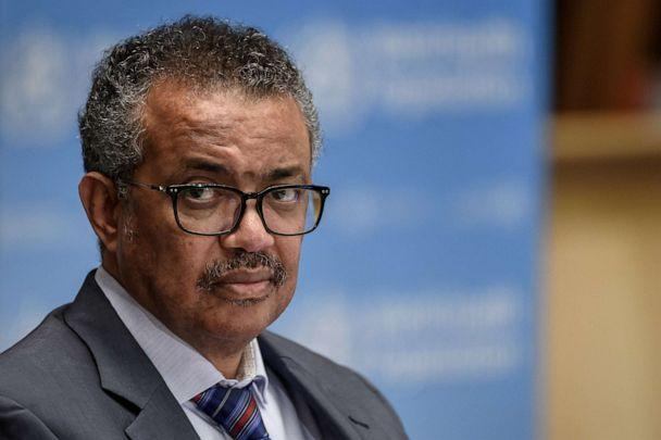 PHOTO: World Health Organization Director-General Tedros Adhanom Ghebreyesus attends a news conference organized by Geneva Association of United Nations Correspondents at the WHO headquarters in Geneva, Switzerland, July 3, 2020. (Pool via Reuters, FILE)