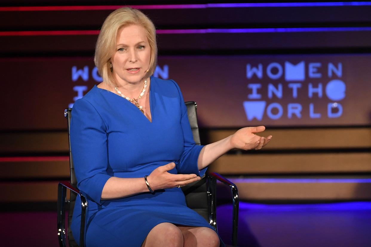 Sen. Kirsten Gillibrand (D-N.Y.) was the first senator to publicly call on her colleague, Al Franken, to resign after numerous allegations of sexual misconduct. (Photo: Angela Weiss/Getty Images)