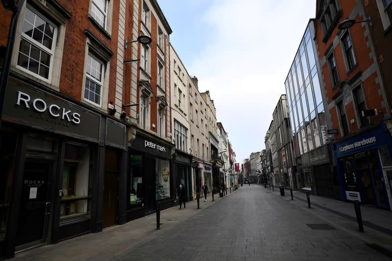 FILE PHOTO: Empty city centre during COVID in Dublin
