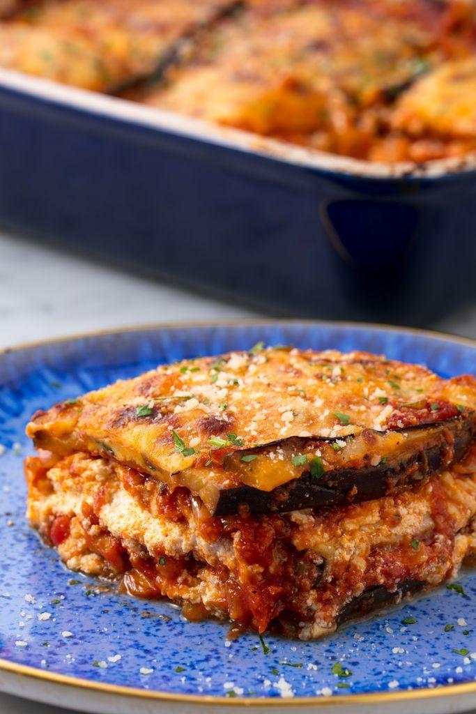 """<p>This is the vegetarian lasagna you've been searching for.</p><p>Get the recipe from <a href=""""https://www.delish.com/cooking/recipe-ideas/recipes/a53697/vegetarian-eggplant-lasagna-recipe/"""" rel=""""nofollow noopener"""" target=""""_blank"""" data-ylk=""""slk:Delish"""" class=""""link rapid-noclick-resp"""">Delish</a>.</p><p><strong><em>BUY NOW:</em><span><em> Spring Chef Oven-Safe Cooling Rack, $14; <a href=""""http://aax-us-east.amazon-adsystem.com/x/c/QhI1hN3m-PDPOY6t8nb5AQsAAAFf_tnesQEAAAFKAfc8Hi4/https://www.amazon.com/Heavy-Stainless-Baking-Cooling-inches/dp/B017MWU59Y/ref=as_at?creativeASIN=B017MWU59Y&linkCode=w61&imprToken=MHmNKTd73WpbeJt9PZTpGA&slotNum=0&tag=delish_auto-append-20&ascsubtag=[artid